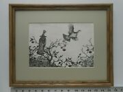 Aiden Lassell Ripley Grouse And Wild Apple Treeframed 11x14 Etching Reproduction