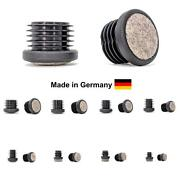 Round Blanking End Cap Pipe Tube Inserts Furniture Feet Made In Germany / Felt