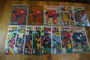 Spiderman 1 Silver, Gold And Color Variants + 2-13 1990 Marvel Comic Lot Of 15