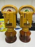 Drink A Meter Parking Meter Drinking Gag Alcohol Breweriana Automobilia Pair