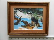 Aiden Lassell Ripley Three Grouse In The Snow 8x10 Framed 2.5 115
