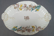 Marx And Gutherz Pink Yellow And Blu3 Floral 2095 55 Vegetable Dish Circa 1885-1898