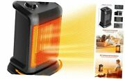1500w Electric Heaters Portable With Thermostat, Safe Oscillating Space Heater