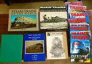 Lot Of Trains Magazines And Books