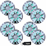 Wet Sounds Revo 6-xsw-ss White Xs Stainless Overlay Grill 6.5 Led Speakers