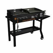 Blackstone Griddle And Charcoal Grill Combo Flat Top Gas Hibachi Station