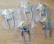 Lot Of 5 Chief Petty Officer Golf Divot Tool Challenge Coin With Ball Marker