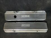 Rare - Early Weiand Sb Chevy Valve Covers Block Letter