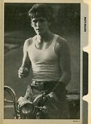 Matt Dillon Pinup Clipping From A Magazine 80's In Tank Top On Motorcycle