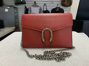 Mini Dionysus Red Leather Chain Wallet Bag