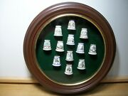 Spode The Twelve Days Of Christmas Thimble Set Complete With Display Case
