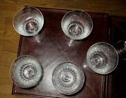 """9 Baccarat Parme 2 American Water Goblet 6"""" Birds Of Paradise And Sea Horses"""