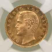 1896d Germany 10 Mark Gold Bavaria Otto Ngc Ms 68 Top Pop Amazing Coin