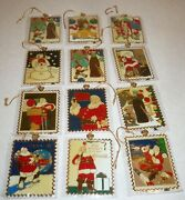 12 22k Gold Plated Vintage 1994 Coca Cola Collectible Stamp Ornaments 22 K Lot