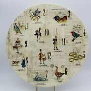 Williams-sonoma 12 Days Of Christmas Round Serving Platter Cookie 13 Inches 2010