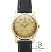 Antique Omega Seamaster Automatic 14761 Champagne Gold Watch Used