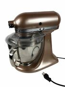Kitchenaid Copper Rose Gold Artisan Mixer Stand W/ Accessories And Attachments