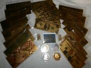 Coin And Note Lot. Coins Dollars Sticker Gold Flake Over 25 Items Holo Sticker
