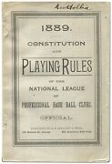 Constitution And Playing Rules Of The National League Of Professional Base 1st