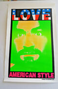 Charles Manson Poster Kozik Signed Edition 1994 34 X 22 Love American Style
