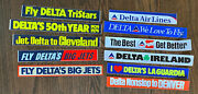 Vintage Lot 1970's Delta Airlines Air Fly Big Jets Decal Bumper Stickers 14-17