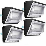 Ledmo 120w Led Wall Pack Light 4 Pack Dusk To Dawn With Photocell Outdoor Commer