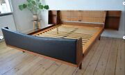 Danish Mid-century Teak And Cane Double-bed By Hans Wegner For Getama 1950