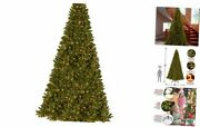 Pre-lit Artificial Christmas Tree | Includes Pre-strung White Lights And 16 Ft
