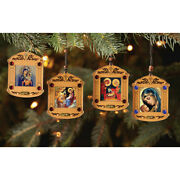 Eternal Bloom, Nativity Holy Family, Madonna And Child- Christmas Tree Ornament