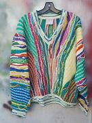 Vintage Coogi Cotton Knitted Sweater Size Xl Made In Australia Notorious Big