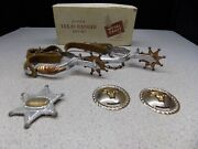 Vintage 1953 Junior Texas Ranger Toy Spurs By Metal Craft With Original Box