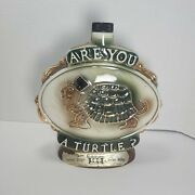 Jim Beam Are You A Turtle And How Sweet It Is 100 Month Old Whiskey Decanter 1975