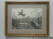 Aiden Lassell Ripley Startled Grouse Framed 11x14 Etching Reproduction