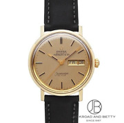 Antique Omega Seamaster De Ville Self-winding Watch Men's Champagne Gold Used