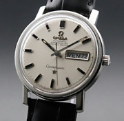 Antique Omega Constellation French Day-date Cal751 Chronometer Watch Men Used