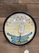 """Vintage Gilbey's Gin Advertising Thermometer- 9"""" 11070"""