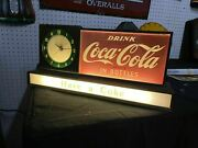 Rare And Vintage Coca Cola Fountain Shop Light Up Clock Drink In Bottles Wow