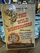 The Wild Westerners Large Movie Poster- Advertising-columbia Pictures - Original