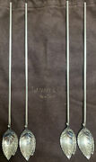 And Co. Sterling Silver Iced Tea Drink Spoons Straws Stirrers Mint Julep