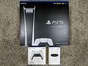 Sony Playstation 5 Digital Edition Console With Extra Controller And Hd Camera