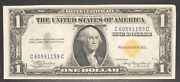 1935 A One Dollar Bill 1 North Africa Note Silver Certificate Unc 34999