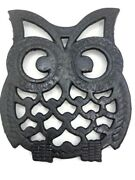 Vintage Cast Iron -owl Trivets -set Of 5 -footed Hot Plates T1