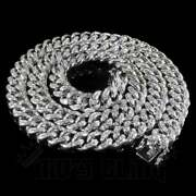 Beautiful 925 Sterling Silver Moissanite Miami Cuban Chain And039and03920 Inch
