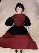 Antique German China Head Doll With Transitional Hair Style