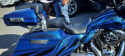 Superior Blue Airbrushed Ravager Series Razor Tour Pack Pak For 1997+ Harley