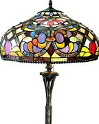 Style Victorian Floor Lamp 64 Tall Stained Glass 20 Shade Kelly