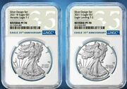 Ngc Pf70 Pr70 First 2021 Reverse Proof Silver Eagle 2 Two Pcs Coin Designer Set