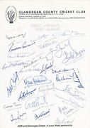Cricket Team Sheet Signed By 25 Great English Test Cricketers