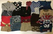 Lot Baby Boy Clothes 12 Months 6-12 Fall Winter Pants Shirts Outfits Carters Set