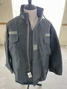 Genuine Us Military Special Op. M65 Field Jacket With Liner Dark Gray Made In Us